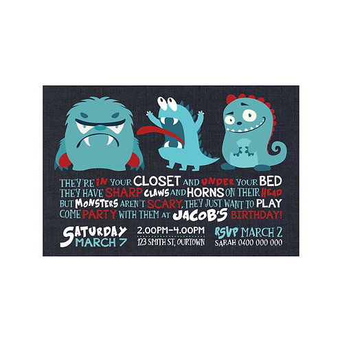 MONSTERS INVITATIONS