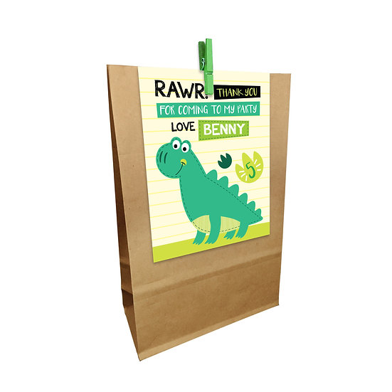 DINOSAUR STEGOSAURUS PARTY BAGS