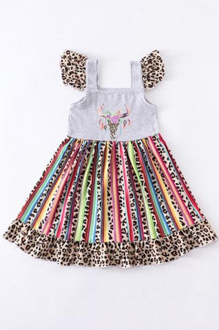 Cow leopard rainbow dress