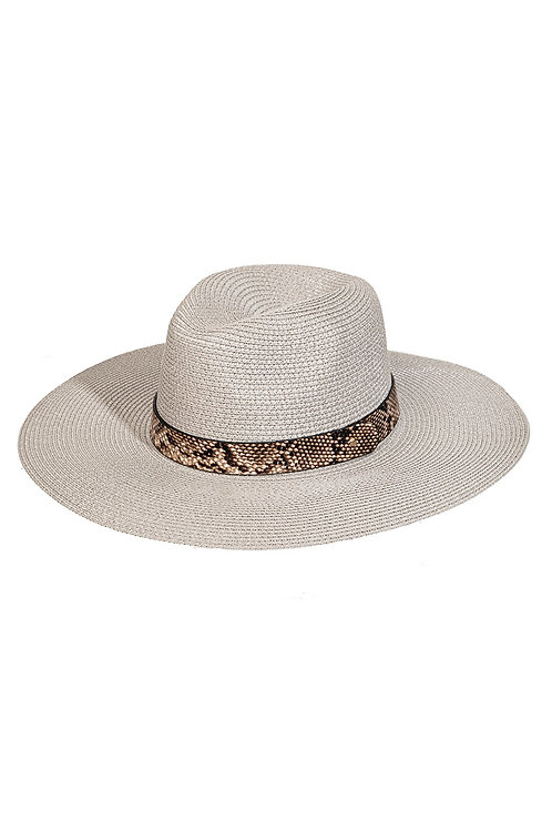 Snake Strap Straw Sun Hat