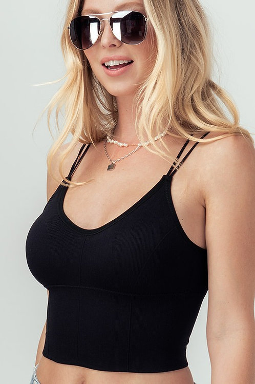 PADDED DOUBLE STRAP BRALETTE ONE SIZE