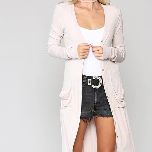 Ultra soft and lightweight ribbed cardigan