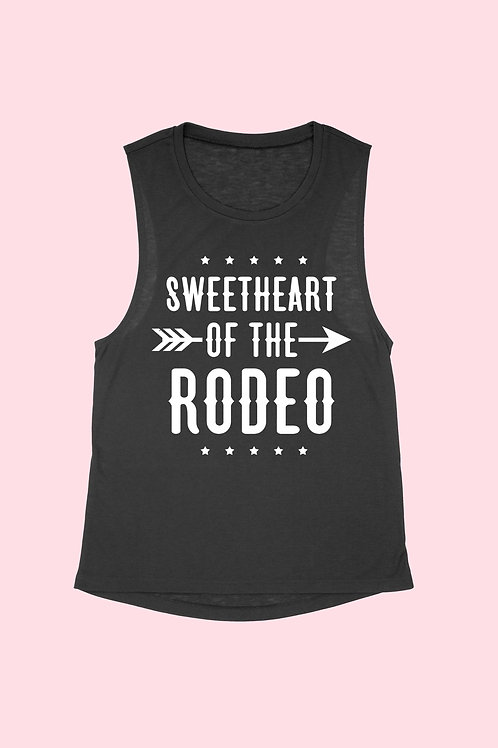 RODEO COUNTRY WESTERN MUSCLE TANK
