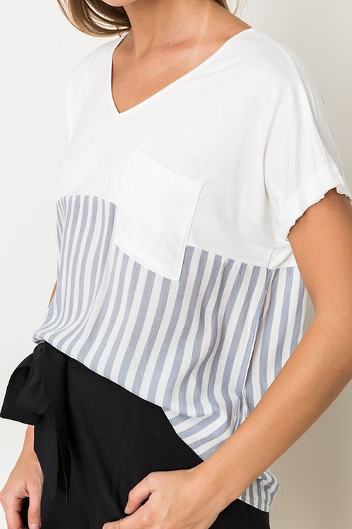 SOFT AND BOXY STRIPE TOP