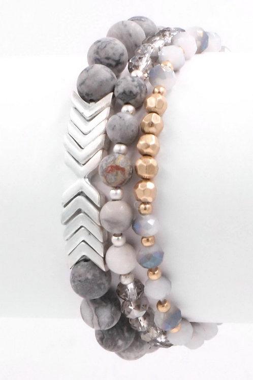 Chevron Bracelet Set