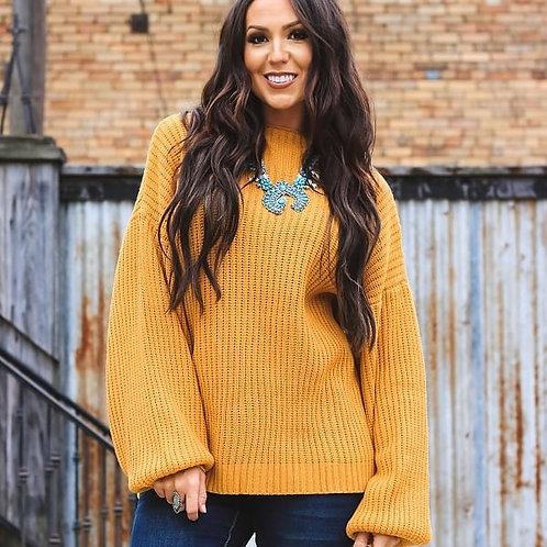 Mustard Long Sleeve Sweater