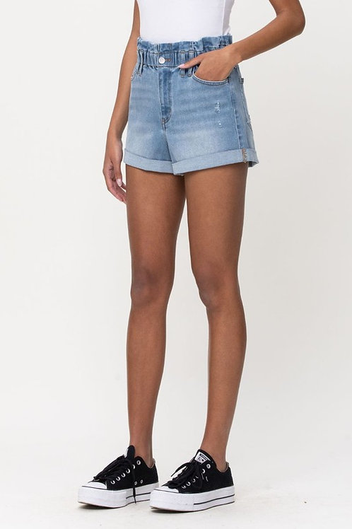 CELLO Paper-bag waist shorts   ******THESE ARE RUNNING 1 size LARGE.....So the