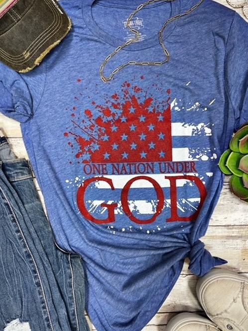Texas True Threads One Nation Under God