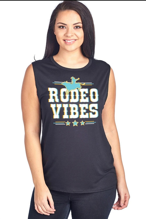 RODEO VIBES MUSCLE TANK TOP