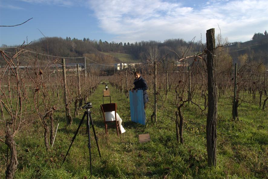 Il set fotografico tra le vigne