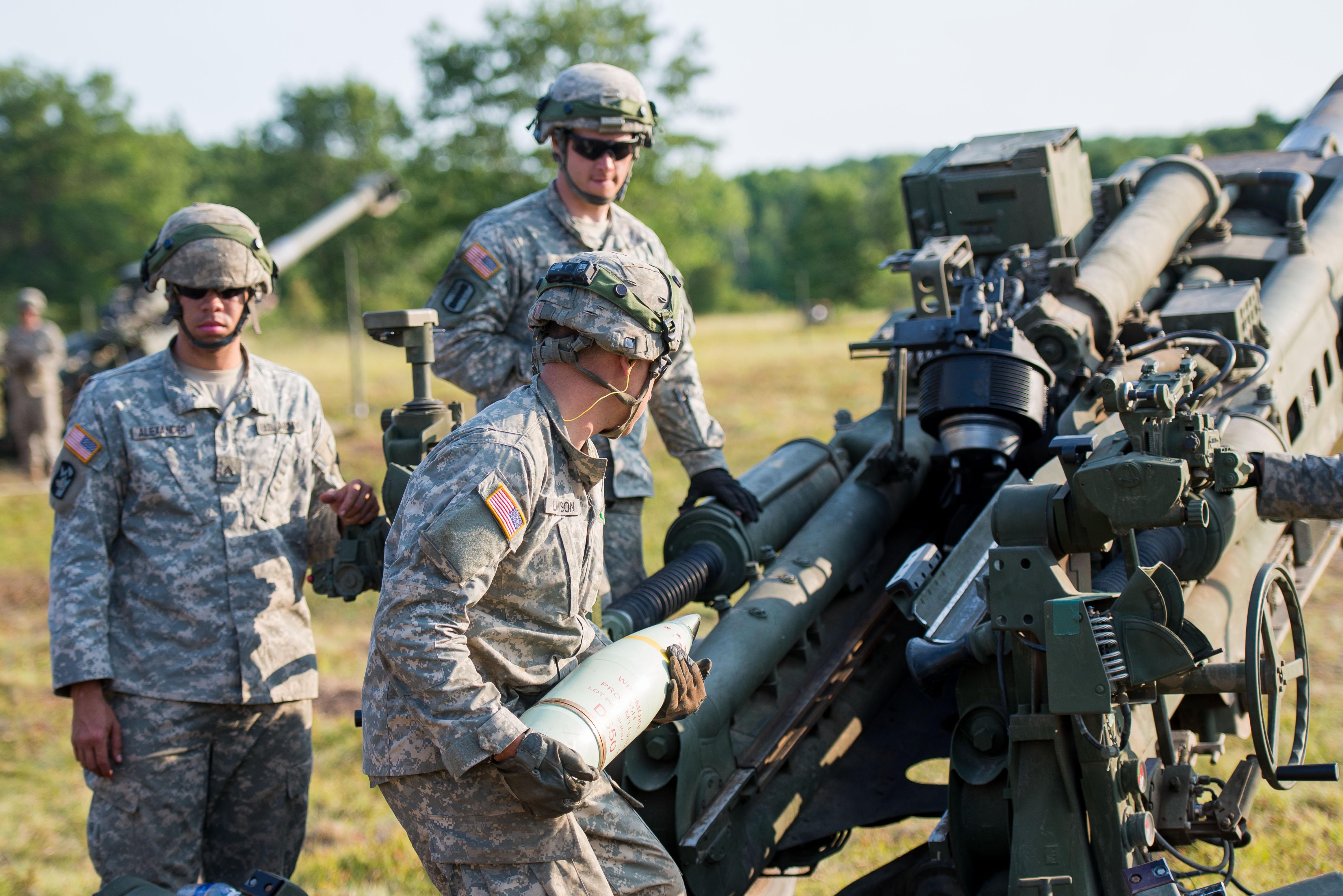 Exercising Artillery