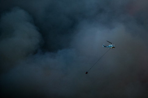 A wildfire burns in the Evans Canyon area near North Wenas Road in Wenas, Wash., on Aug. 31, 2020.