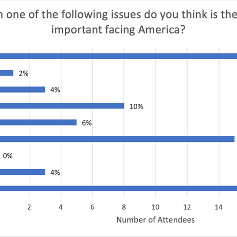 Which one of the following issues do you think is the most important facing America?