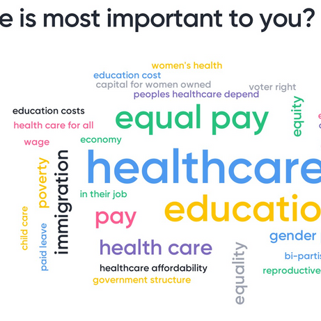 What issue is most important to you?