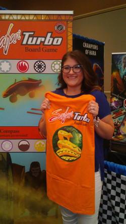 T-shirt Raffle winner, Day 2!