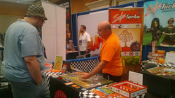 Meeting great people at our booth