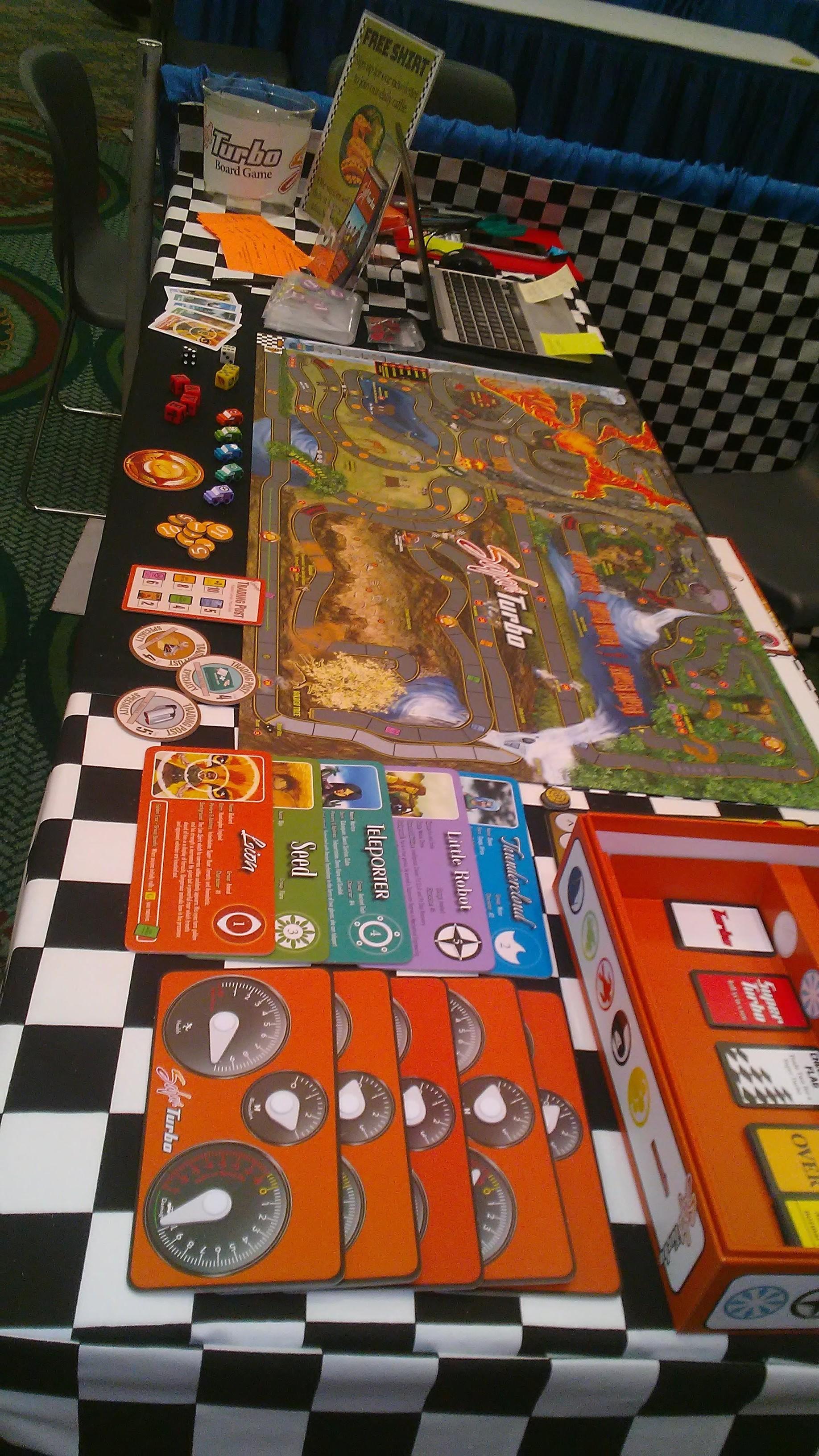 Safari Turbo game components