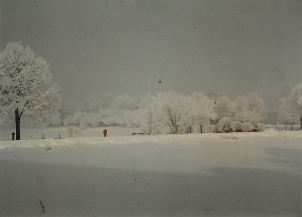 Landsberg AB Snowy Scene Winter 1956-195