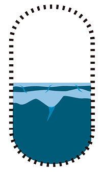 Natural salt water canals intrusion
