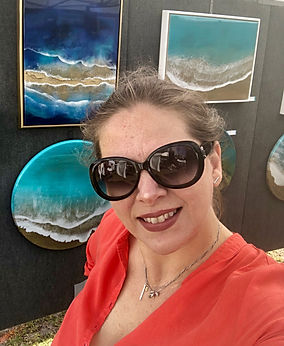 Resin Waves Miami Artist - Resin Ocean Miami Artist - Ana Hefco