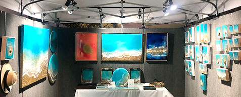 Ana Hefco booth at Beaux Art festival of Arts