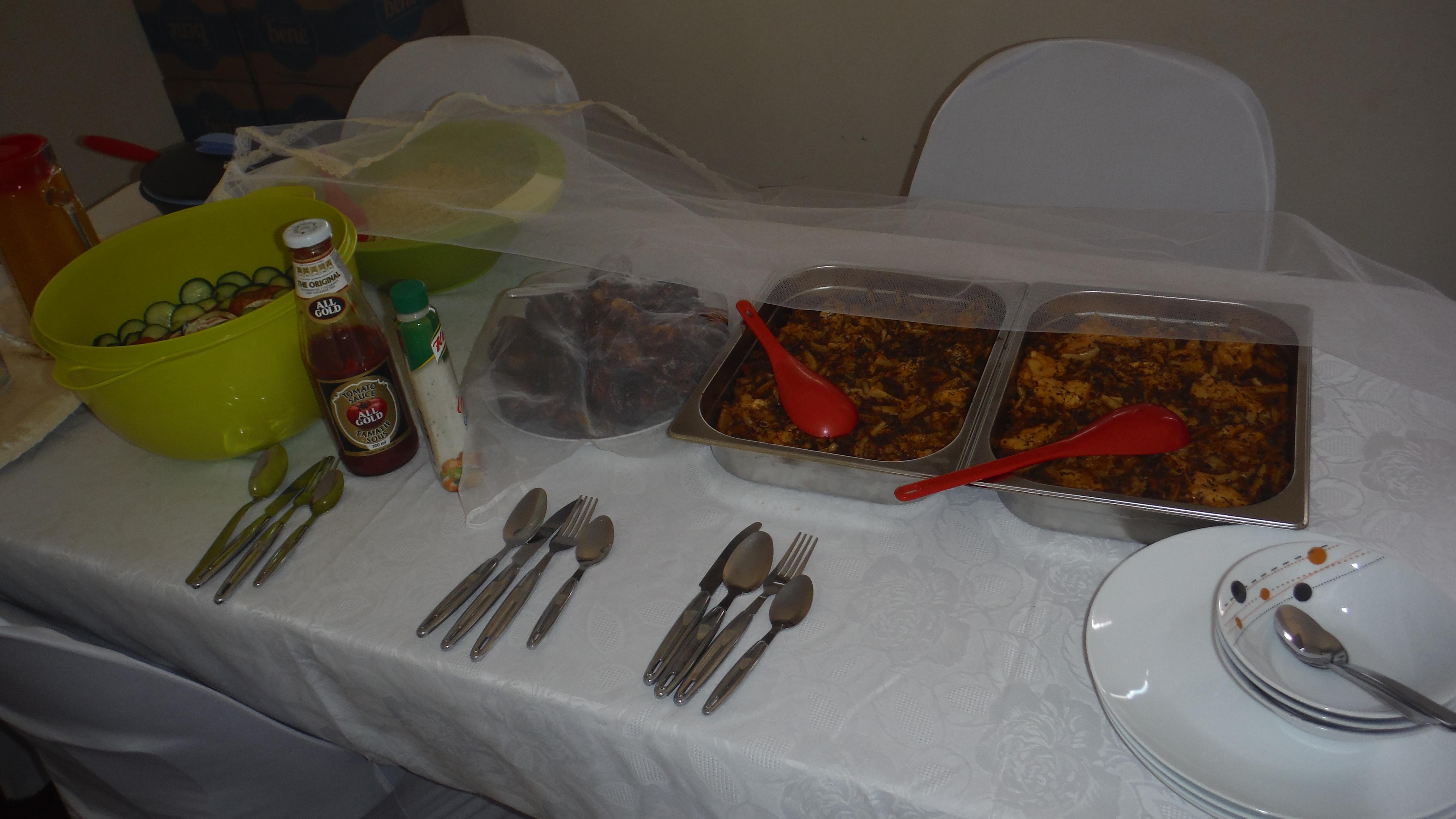 Dinner after service!