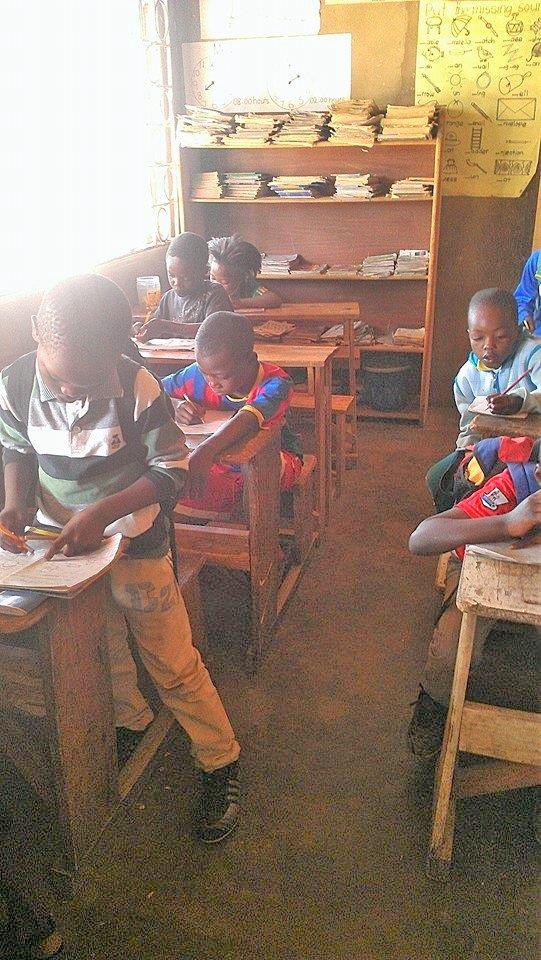 Children doing lessons 9.23.15