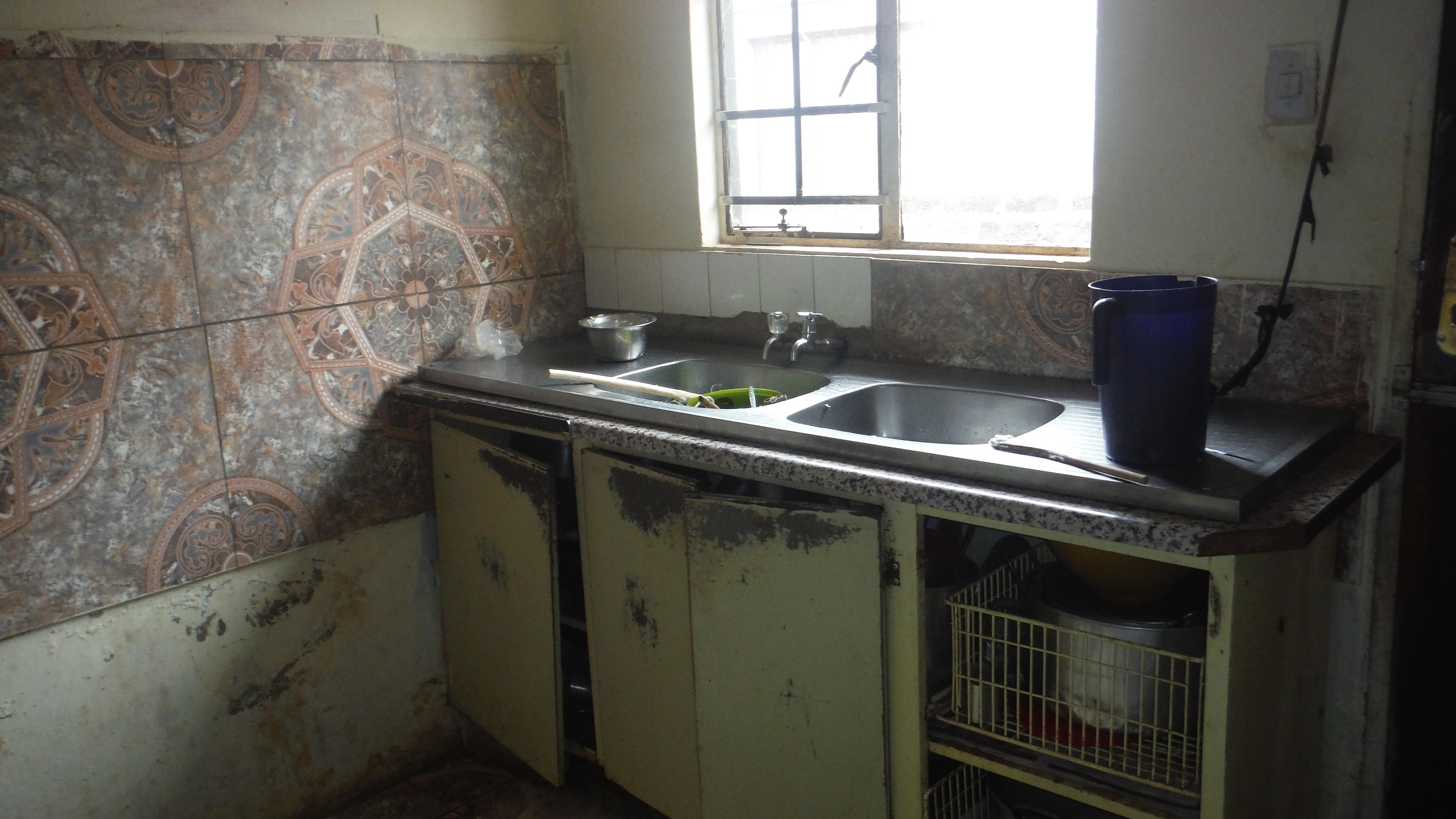 Kitchen after fire