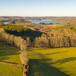 12 luchtfoto richting lac de settons