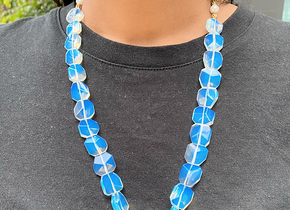 Azure Clear Necklace