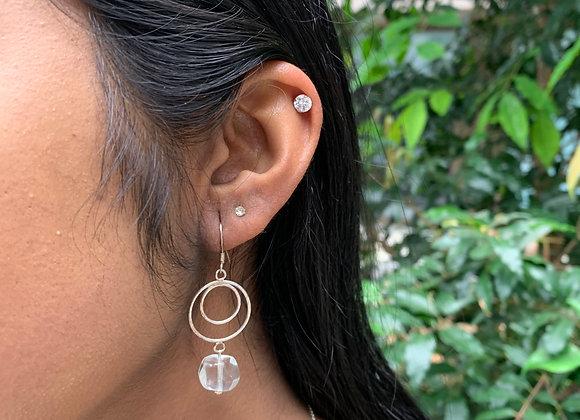 Dayira Clear Bead Earrings
