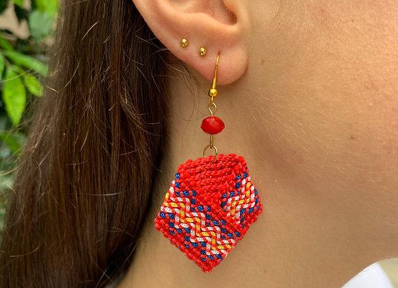 Mtanda Red Earrings