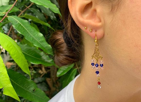 Jamila in Blue Earrings