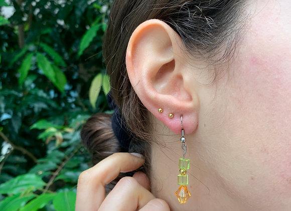 Funky Caterpillar Cubed Earrings