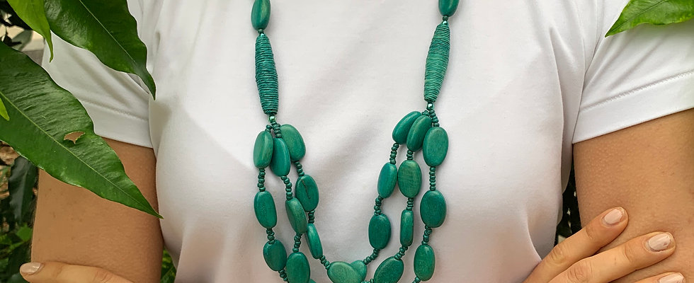 Emerald Bead Layered Necklace