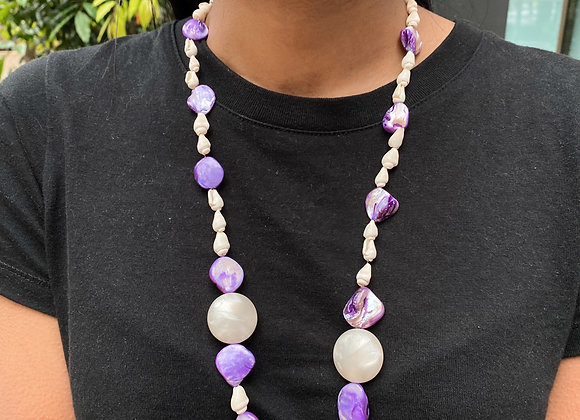 Lilac in Corals Necklace