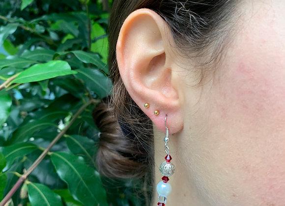 Delicate Trinket Layered Earrings