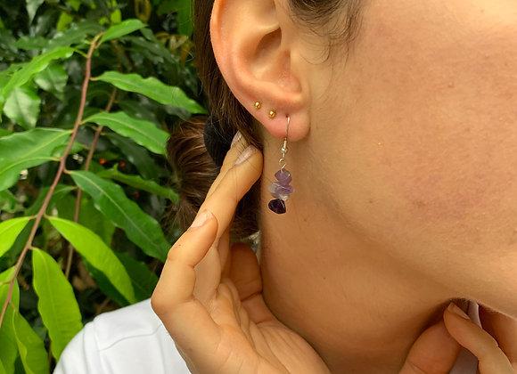 Lavender Hasa Bead Earrings