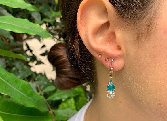 Alfiruz Clear Bead Earrings