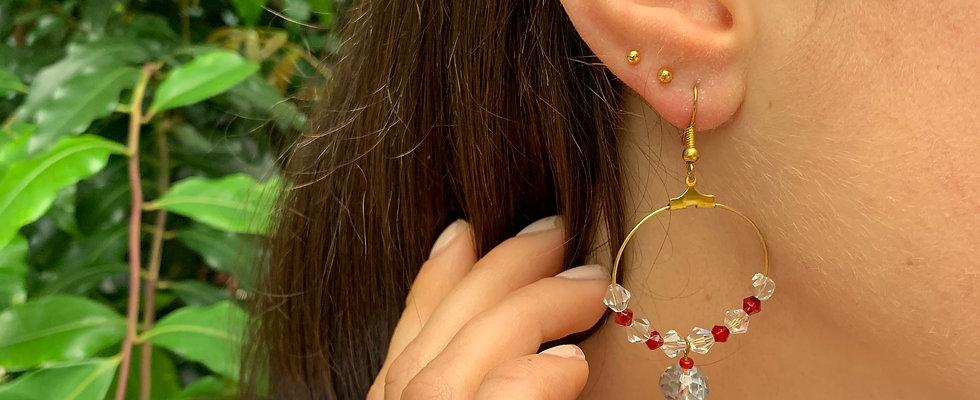 Safron on Hoop Earrings