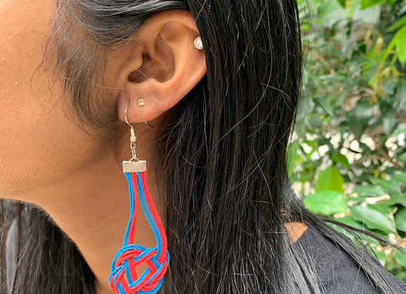Euqda in Blue and Red Earrings