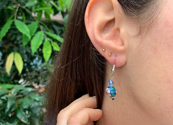 Delicate Bauble in Floral Earrings