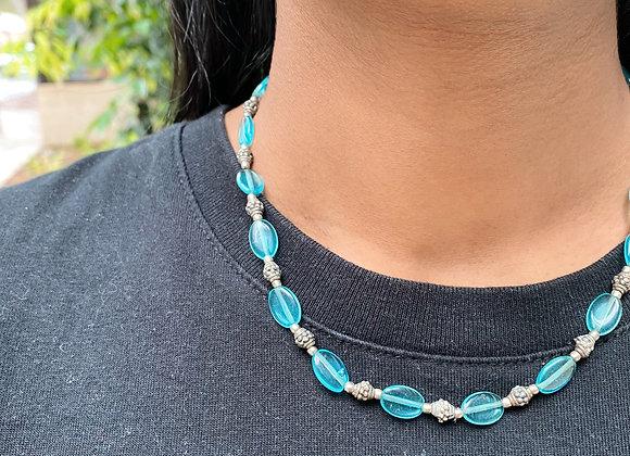 Kuwala Blue Bead Necklace