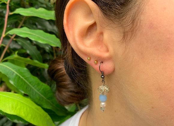 Delicate Baubles in Baby Blue Earrings