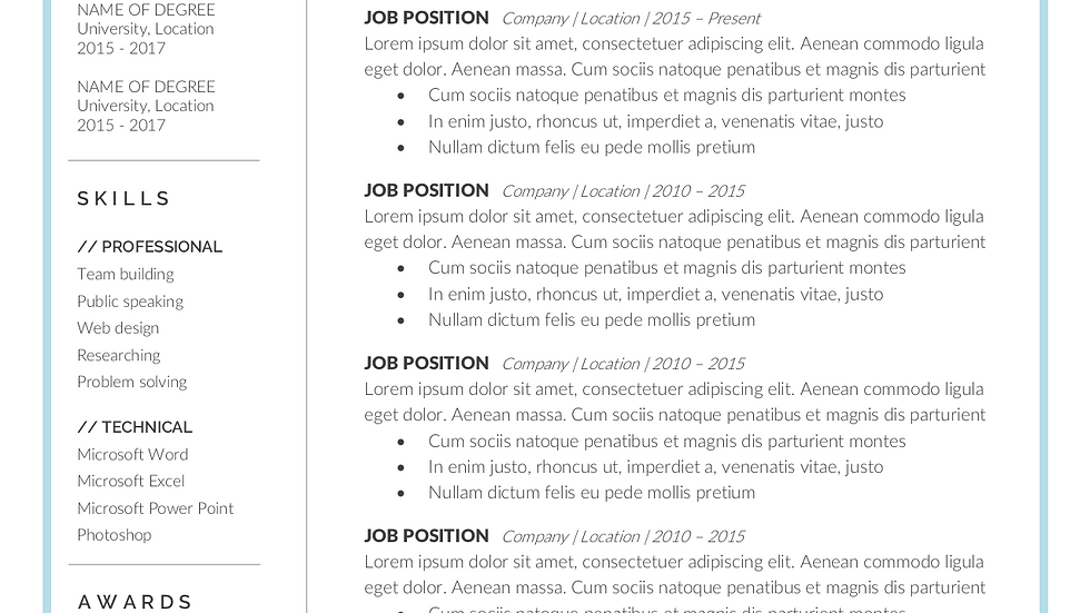 Executive-Level Resume