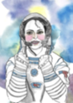 Anousheh Ansari illustration a galaxy of her own by Libby Jackson