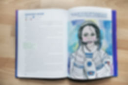 Anousheh Ansari double page spread illustrated book a galaxy of her own Libby Jackson