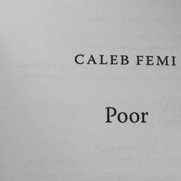 REVIEW: Poor by Caleb Femi