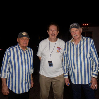 Band Leader Jim Donna backstage with the Beach Boys at the Minnesota State Fair