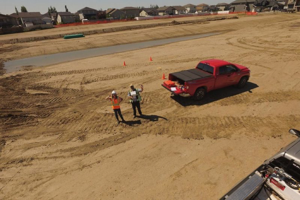 drone construction tracking surveying